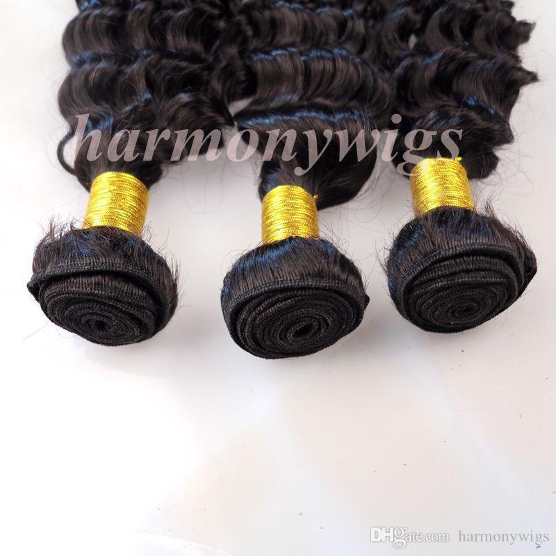 Jungfrau-Menschenhaar-Einschlagbrüste Brasilianisches Haar bündelt tiefe lockige 8-34inch unverarbeitete peruanische indische mongolische kambodschanische Nerz-Haarverlängerungen