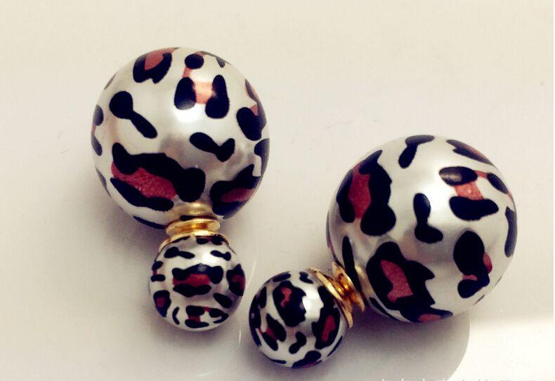 Celebrity Runway Double perle boucles d'oreilles Boucles Boucles d'oreilles Plug Boucles d'oreilles Broche Big Pearl Boucles d'oreilles