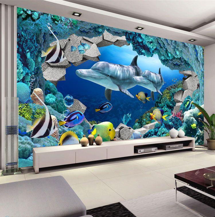 Underwater Wall Mural 3d wall mural underwater world photo wallpaper interior art