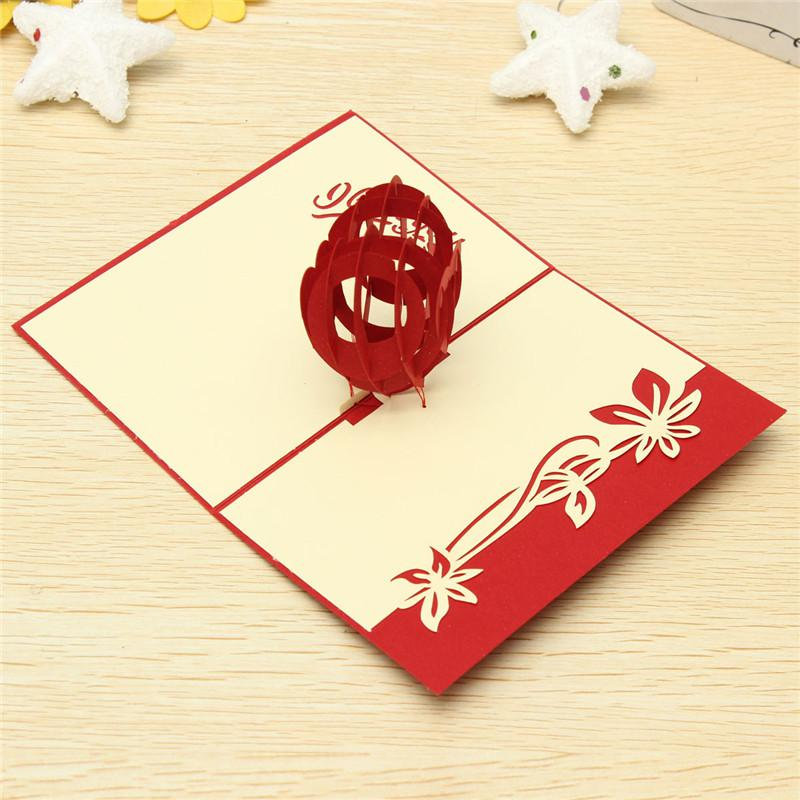 Wondernful Design 3d Heart Pop Up Cards Birthday Love Greeting – Pop Up Cards for Birthday
