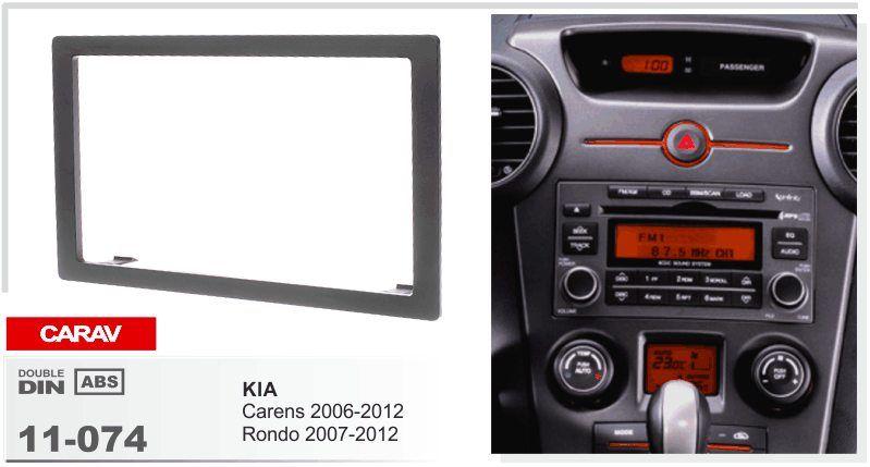 CARAV 11-074 car radio mounting stereo install trim installation 2-DIN on