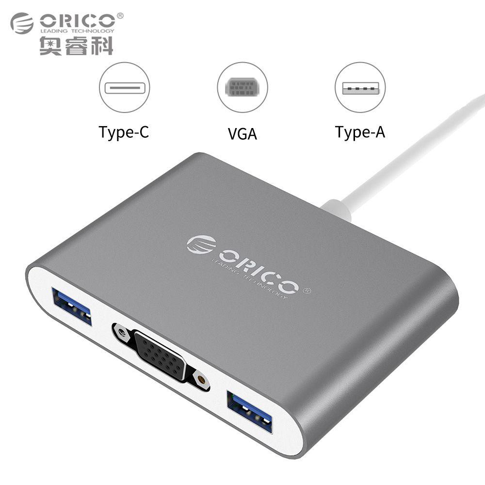 2018 Orico Rcv3a Aluminum Hub With Type C To Vga A Pd 20 Hdd Case Converter Usb31 Gen1 5gbps 3 Usb30 Ports For Mac Windows Linux From Worldwidehuntoon