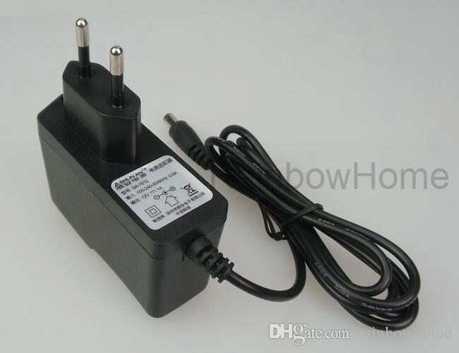DC 12V 1A Adaptador de fuente de alimentación 5.5 mm 2.1 mm para luces de tira LED CCTV Monitor cargador de pared convertidor transformador transformador