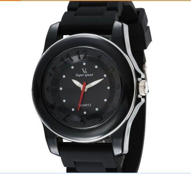 2019 горячей продажи нового V6 вскользь Кварц Мужчины Часы Спорт еще цвет наручных часов десантный силиконовые часы моды часы платье часы