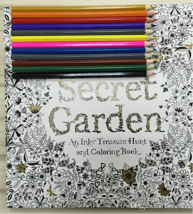 Secret Garden Lost Ocean An Inky Treasure Hunt And Coloring Book With Coloured Pencils Adult Children Relax Graffiti Painting Colouring Free