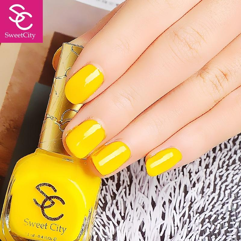 Wholesale Sweetcity Brand High Quality Quick Dry Nail Polish Yellow ...