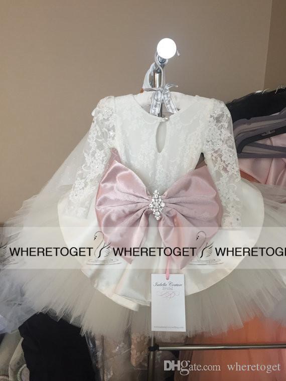 2019 princesa flor menina vestidos vestidos de casamento para casamentos arcos tulle laço crianças vestidos de crianças para festa de Natal casamento