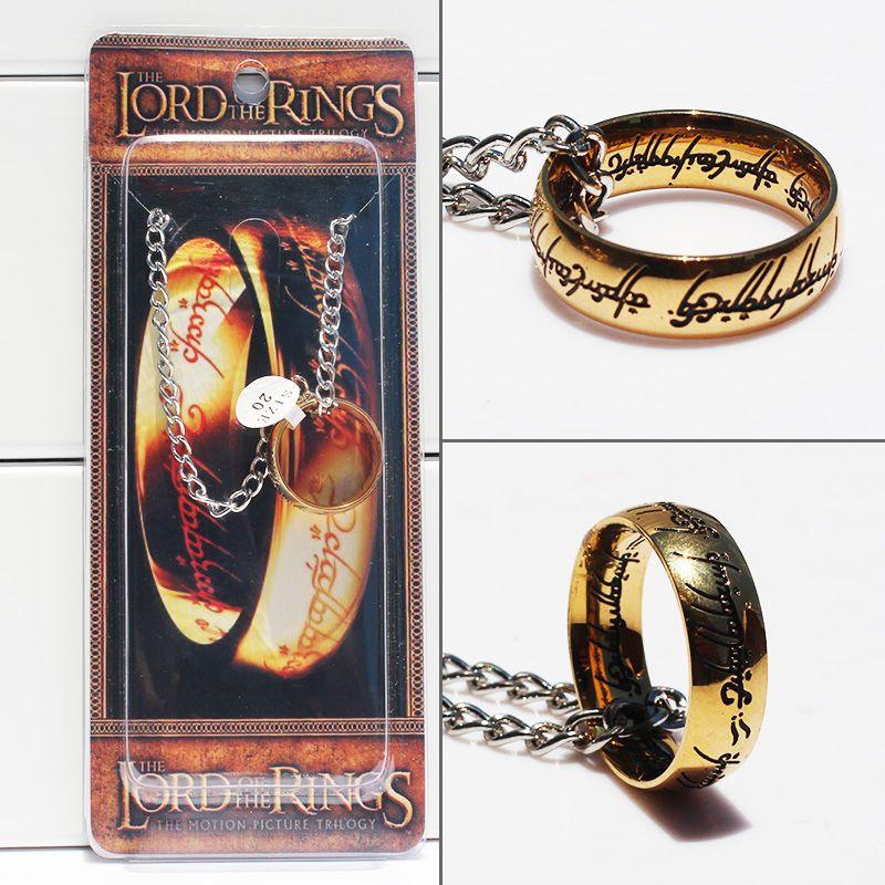 Властелин колец ожерелье Хоббит ожерелье один Бильбо Хоббит золотой брелок 2.5 см Бесплатная доставка