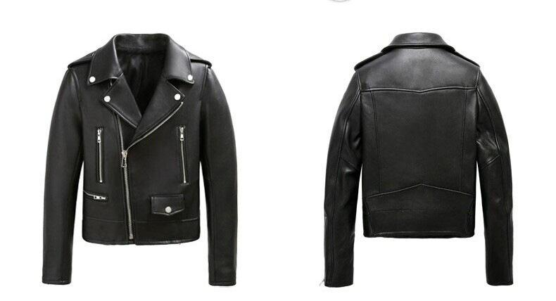 2015 New Women Leather Jacket Fashion Black Motorcycle Biker ...