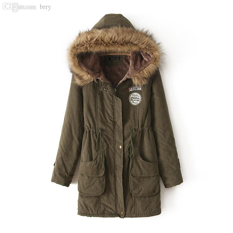 Wholesale 2015 New Winter Womens Parka Casual Outwear Military ...