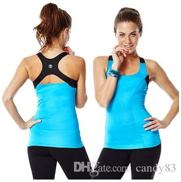 afcd8a0a5238d Compre Chaleco De Mujer Break Beat Built In Bra Tank Camisetas De Yoga  Mujer Racerback Purple   Pink   Blue A  11.06 Del Candy83
