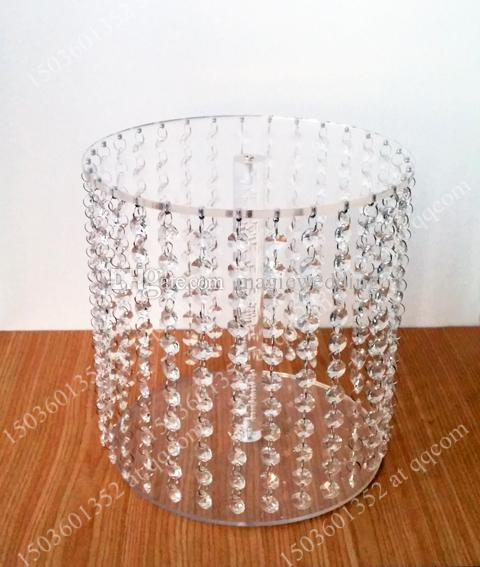 Sparkling Crystal clear garland chandelier wedding cake stand birthday party supplies decorations for table top centerpieces