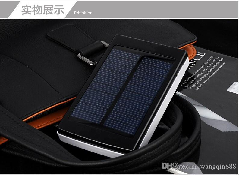 Solar Charger And Battery Solar Panel Portable Power Bank For Cell Phone Laptop Camera MP4 With Flashlight Shock