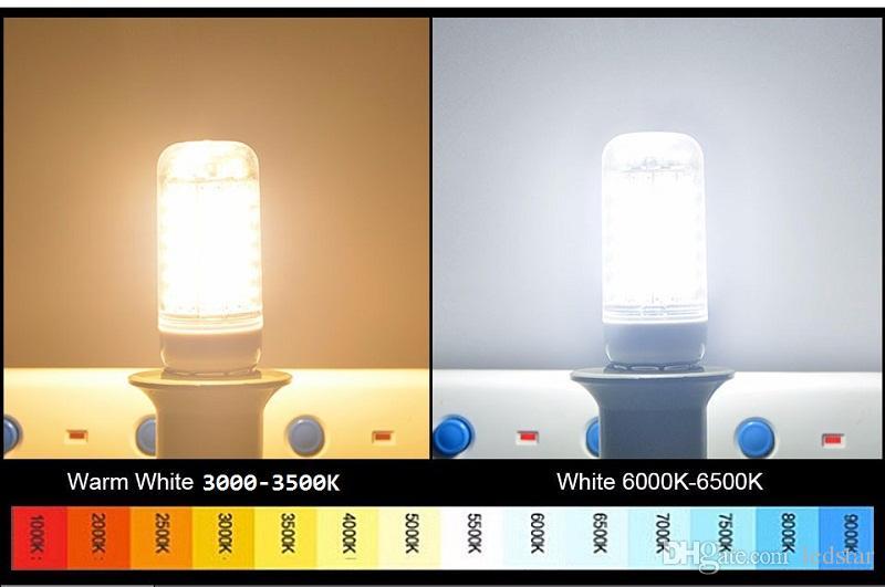 SMD5730 Bombillas LED GU10 E27 E14 B22 G9 Luces LED de maíz 7W 12W 15W 18W Luces LED de 360 grados AC 85-265V