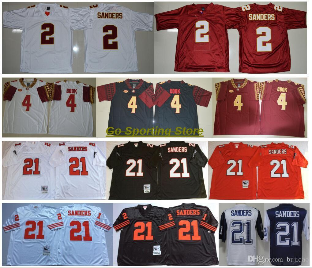Florida State Seminoles College Jerseys 2018 NCAA FSU 4 Dalvin Cook Jersey  2 Deion Sanders  21 Vintage Retro Red White Black All Stitched Online with  ... bb99c39ff9b