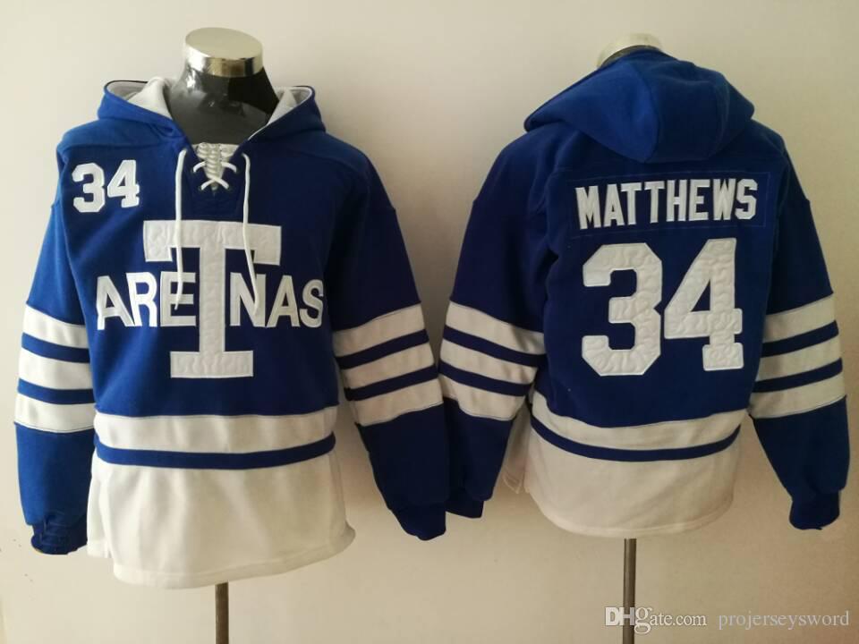low priced ee78a 99e57 #34 Auston Matthews Toronto Maple Leafs Hoodies Jersey Mens 16 Mitchell  Marner 29 William Nylander Sweatshirt Hockey Jerseys Mix Order