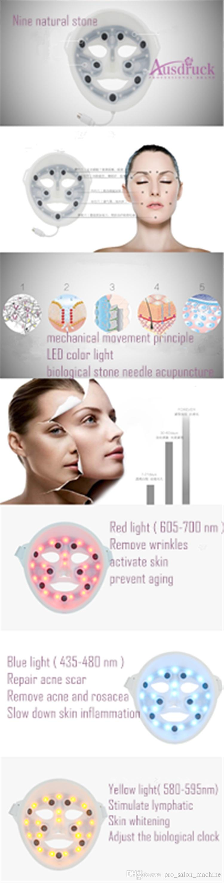 Red Blue Yellow PDT LED Light Anti Aging Acne Wrinkle Remover LED Facial Mask PDT Machine for Facial Care Photon Skin Rejuvenation