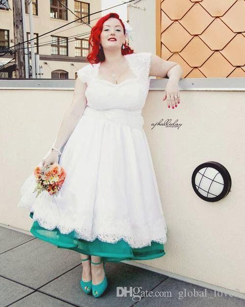 Discount Real Picture Plus Size Wedding Dresses Color Tea