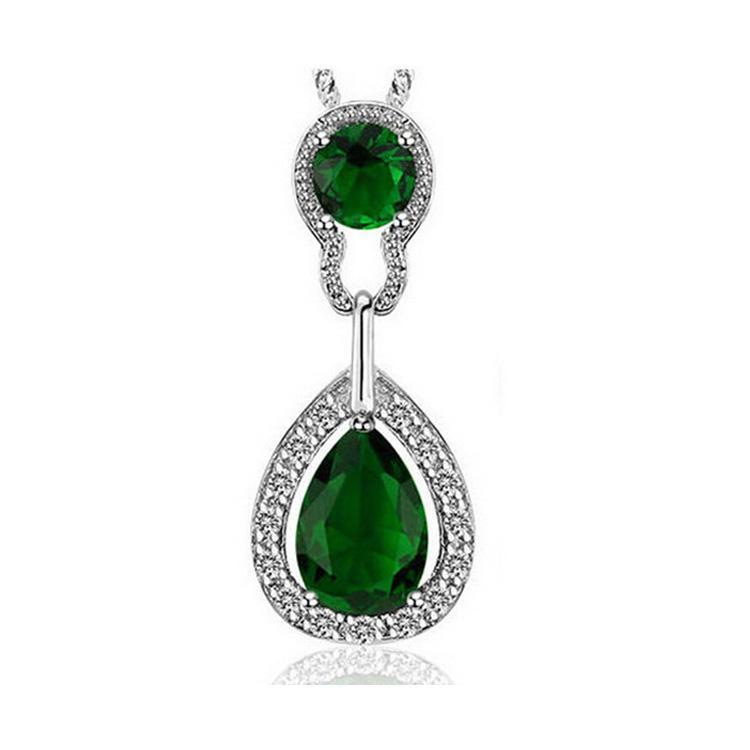 Collana di cristallo a forma di goccia di cristallo a forma di goccia d'acqua Austria Collana di gioielli di moda completa di diamanti con diamanti 8161