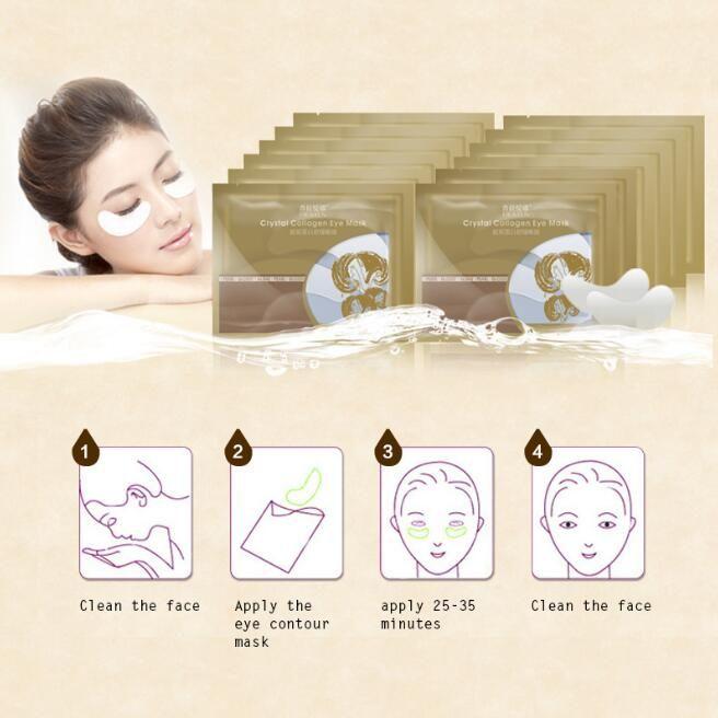 Patch palpebre in cristallo Pilaten Anti occhiaie Rimozione maschera collagene in cristallo Collagene occhi neri Cura della pelle Idratante