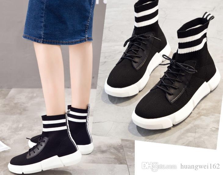 Calidad Casuales Calcetines Zapatos De Las Mujeres La Alta p4qTCw
