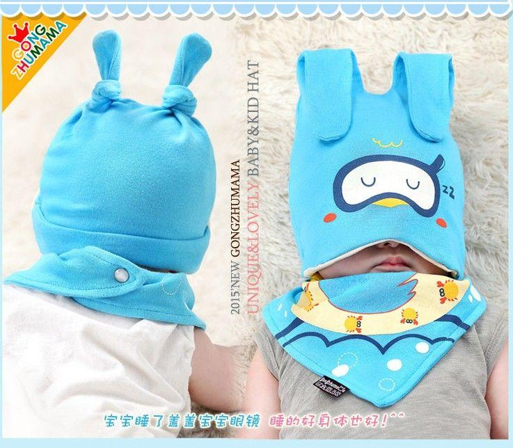 Hot Kids Infant Toddler Newborn Beanie Hat Warm Winter Baby Boys Girls Crochet Hats + Bib Scarf Children Accessories KB100