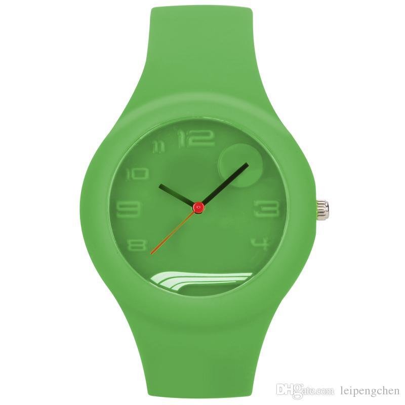 silicone strap men women sports brand watches luxury fashion casual watches diy relojes pu with ma logo men women dress wrist