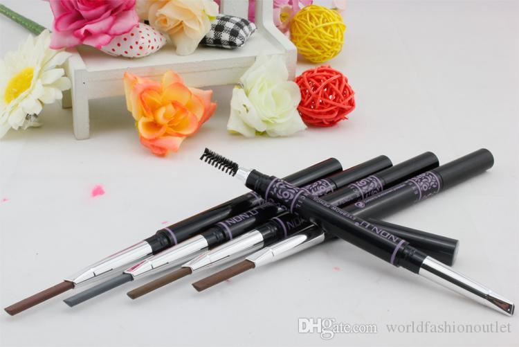 Sopracciglio Enhancers Marca trucco sopracciglio matita automatica trucco 5 vernice di stile la matita del sopracciglio cosmetici eye brow eye liner tools Drop Ship