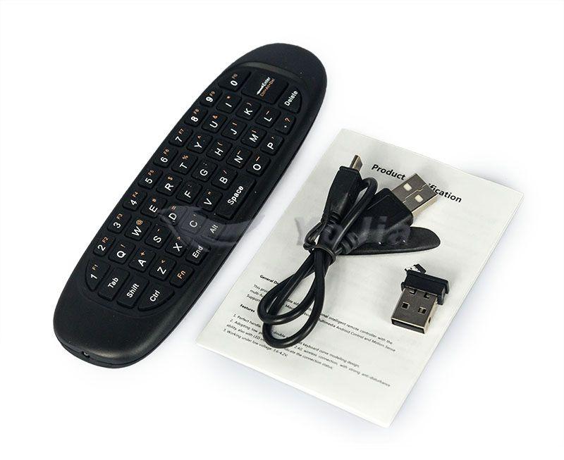 안드로이드 TV 박스 컴퓨터에 대한 기존 2.4 G 마우스 C120 에어 마우스 T10 충전식 무선 GYRO 공기 플라이 마우스 및 키보드 콤보