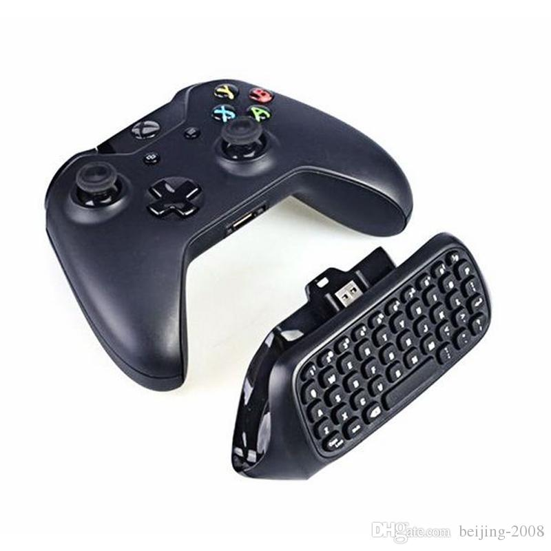 HOT russian laptop Chatpad New Professional Mini 2.4G Wireless Keyboard 10M For Microsoft Xbox One Console Controller Black 010211
