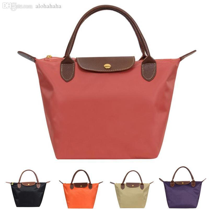 Wholesale New Nylon Tote Bag Folding Bag Ladies Handbags Women ...