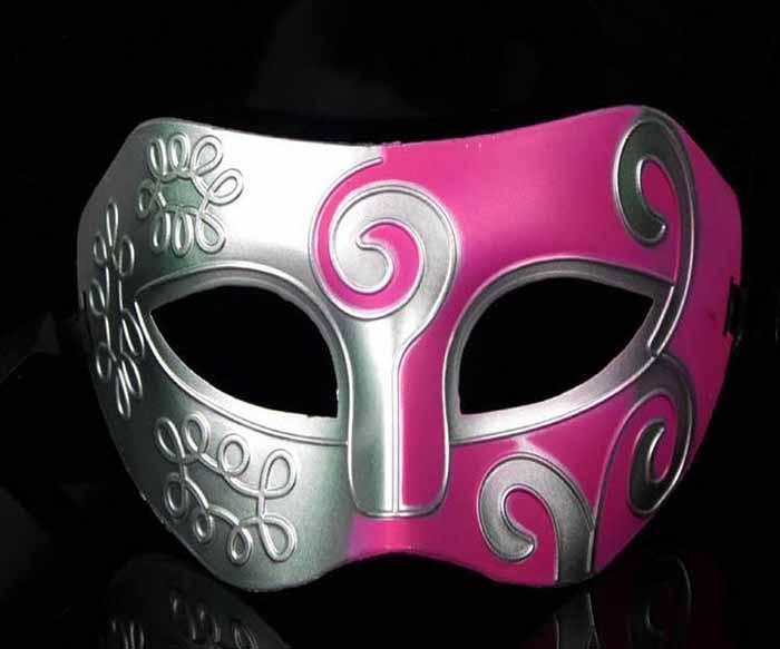 Renkli Erkekler Maske Retro Roma Gladyatör Cadılar Bayramı Partisi Yüz Masquerade Maske Venedik Dans Parti Maskesi Yarım Yüz Maskesi Ücretsiz Kargo