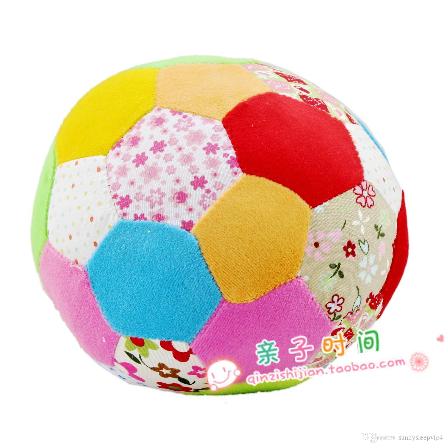 2018 Multicolour Rattles Big Cloth Ball Baby Ball Toy Baby Hand