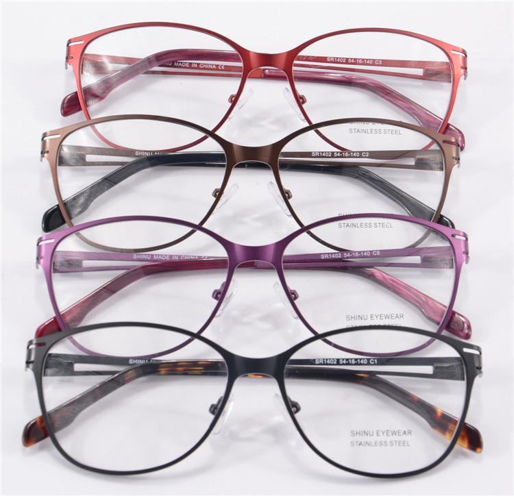 Optical Glasses Frame Women Prescription Glasses Stainless Steel ...