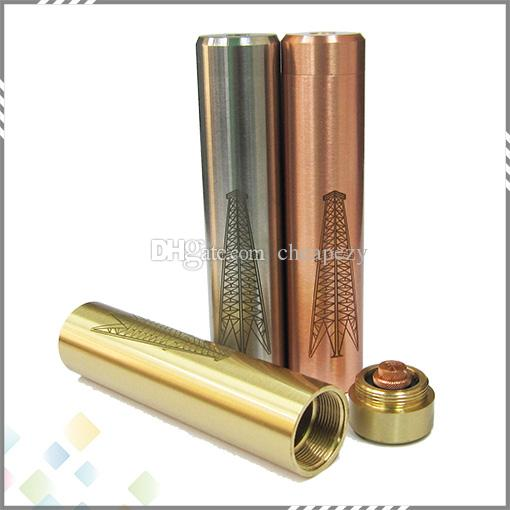High quality Rig Mod Mechanical Mod SS Copper Brass With Steel Tube Rig Mod fit 18650 battery with gift box package DHL Free