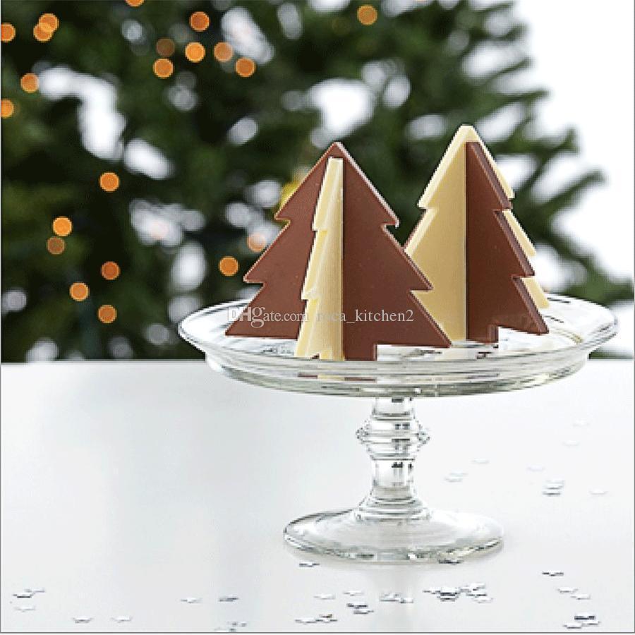 Silicone 3D arbre de Noël Moule Au Chocolat Gâteau Au Chocolat Savon Pudding Gelée De Bonbons Glace Biscuit Moule Moule Pan Pan