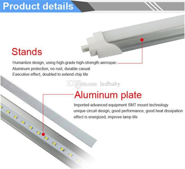 FA8 Single Pin 2.4m 8 feet Led Tubes Light Clear/Frosted Cover T8 45W 4000lm Led fluorescent Tubes Light Warm/Natural/Cool White 85-265V