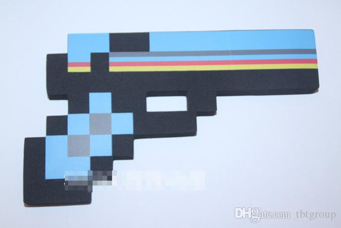 Foam/Diamond/Mosaics EVA Foam Gun firearm Blue Gem Stone Foam Gun Toy games 4 designs weapons kids christmas gift