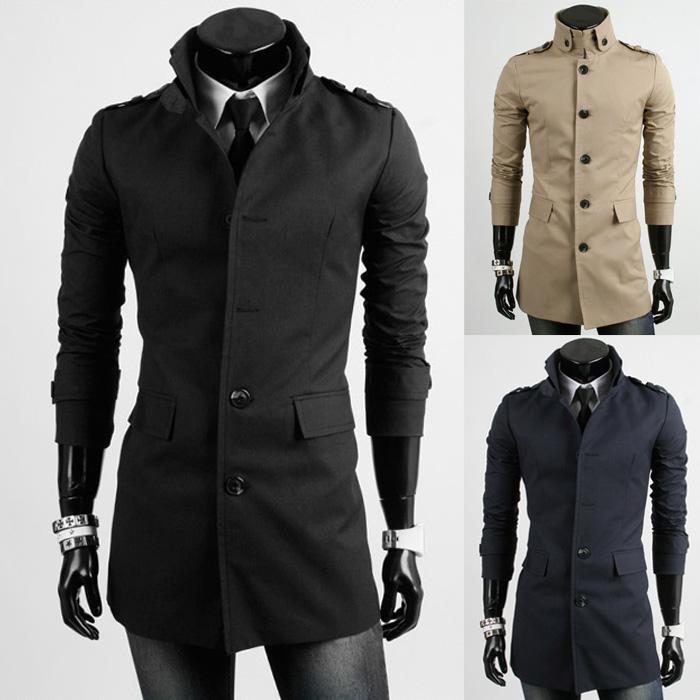 Very best Winter Overcoat Khaki Black Navy Blue Wool Coat Men'S Cloth Coat  MQ39