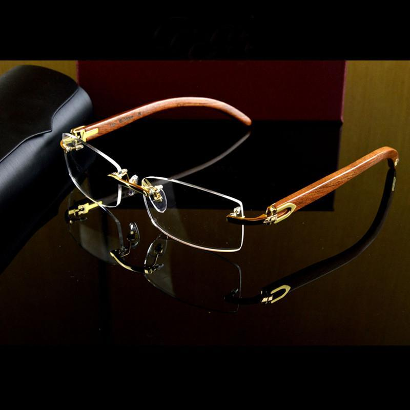 discount eyeglass frames for men top plating and metal materials high quality royal designer glasses frames with flex wood temple retro glasses frames - Discount Designer Eyeglass Frames