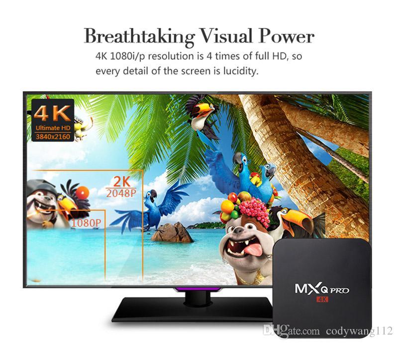 Fabrik Günstigste MXQ PRO Android 7.1 TV Box 1 GB 8GB 2.4G WiFi 4k-Stream Media Player TV-Boxen