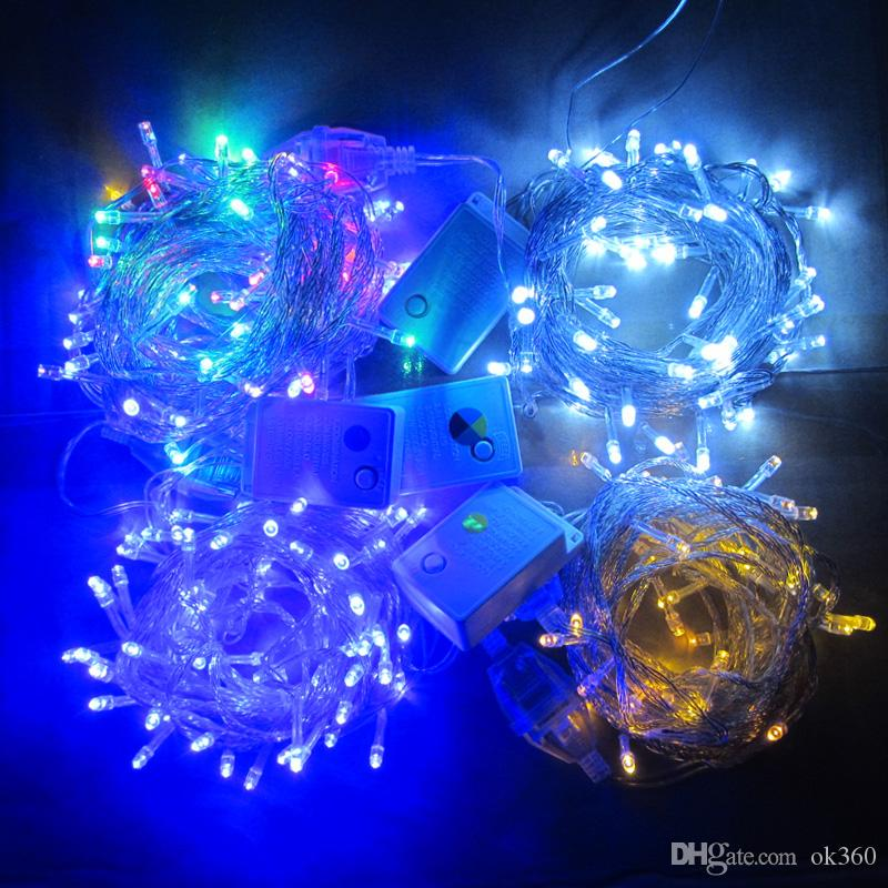 20m30m50m100m 600 led string fairy lights xmas decor lights redbluegreen colorfull christmas lights party wedding lights twinkle light light bulb