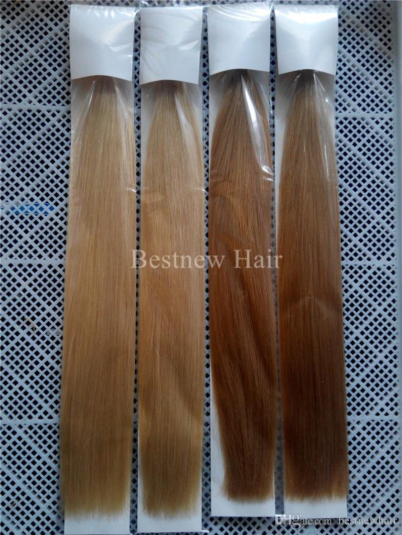 """LUMMY Keratin Nail U Tips INDIAN REMY Hair Extensions 18""""20""""22""""24"""" #27 Honey Blond and #613 Bleach Blonde Straight 1g/s"""