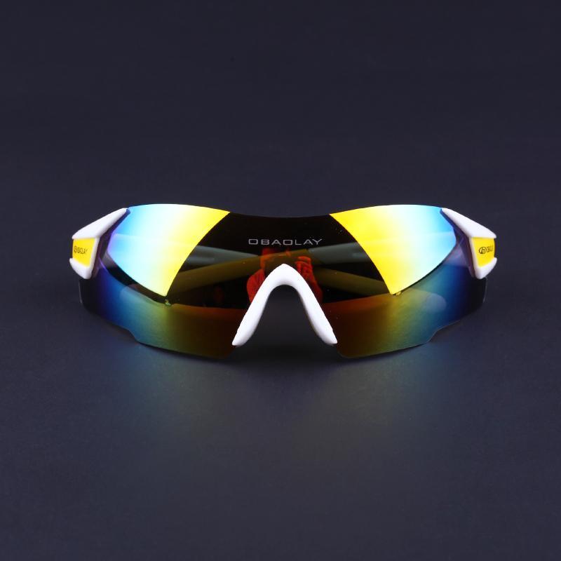 cecc3b5ba8 Gafas De Sol Deportivas Hombres Mujeres Gafas De Sol Polarizadas UV400  Ciclismo Gafas De Sol Sin Montura Pesca Running Mountain Bike Golf, Blanco  Y Amarillo ...