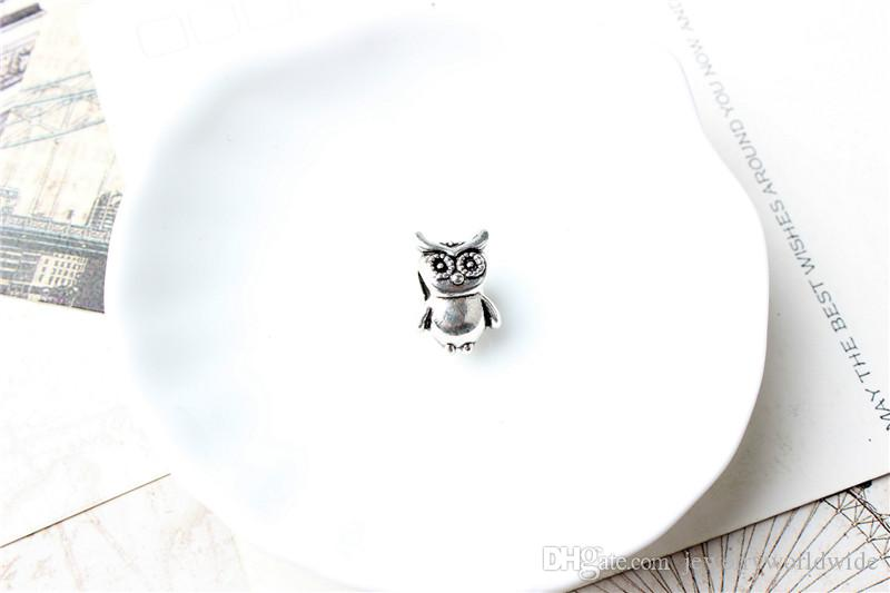 Owl Guard Alloy Charm Bead Fashion Women Jewelry Stunning Design European Style For Pandora Bracelet Necklace