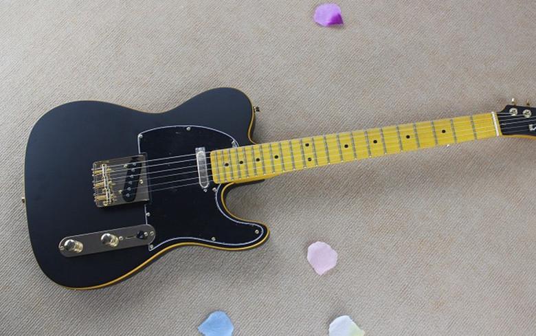brand new high quality matte black telecaster guitar vintage maple fingerboard tele white. Black Bedroom Furniture Sets. Home Design Ideas