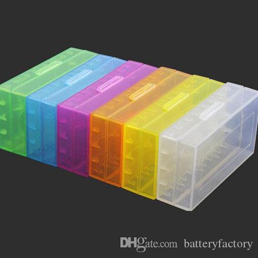 휴대용 운반 상자 18650 배터리 케이스 저장 아크릴 상자 18650 배터리 및 16340 배터리 6 색에 대 한 다채로운 플라스틱 안전 상자