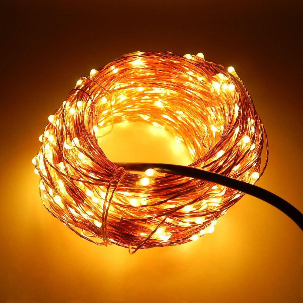 Cheap 30m 300 Led Outdoor Christmas Fairy Lights Warm White Copper ...