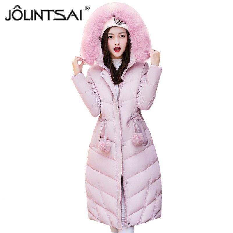 aa08eba17e7d 2019 X201711 JOLINTSAI Winter Parkas Jackets 2017 Women Coat Casual Wadded  Cotton Padded Long Winter Jacket Women Hooded Coats Outwear From Huang02,  ...