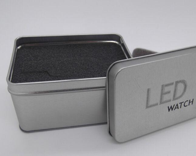 10 stks Stijlvolle Aluminium Horloge Dozen Gevallen Metalen Womens Heren geschenkdoos Sieraden Display Case Opslag Horloges